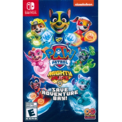 汪汪隊立大功拯救冒險灣 Paw Patrol Mighty Pups Save Adventure Bay - NS Switch 英文美版