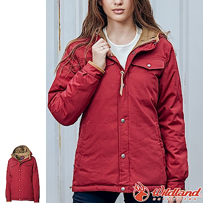 Wildland 荒野 0A62993-18赭紅色 女鵝絨防潑水極暖外套