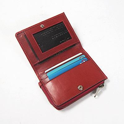 CALTAN-零錢包 卡片收納包 卡片夾 小物 零錢袋-2183cd-red