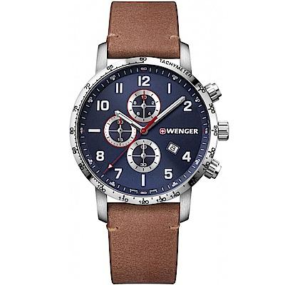 WENGER Attitude Chrono 計時時尚腕錶(01.1543.108)藍