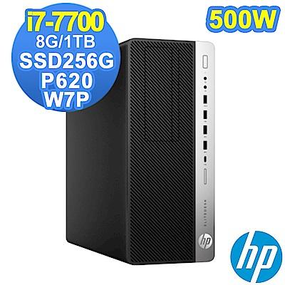 HP 800G3 MT i7-7700/8G/1TB+SSD256G/P620/W7P