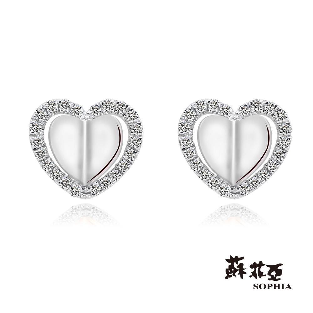 蘇菲亞 SOPHIA -唯美系列 0.10克拉鑽石耳環