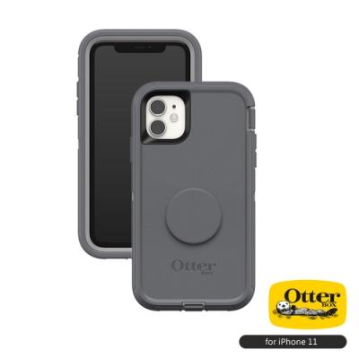 OtterBox Otter+Pop iPhone 11(6.1吋)專用 雙層防摔保護殼-Defender防禦者泡泡騷系列■灰