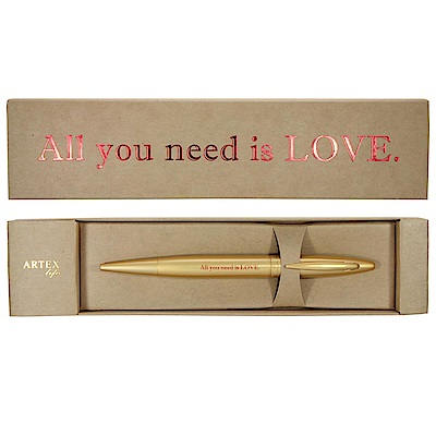 ARTEX life系列 人生引言中性鋼珠筆All you need is LOVE.