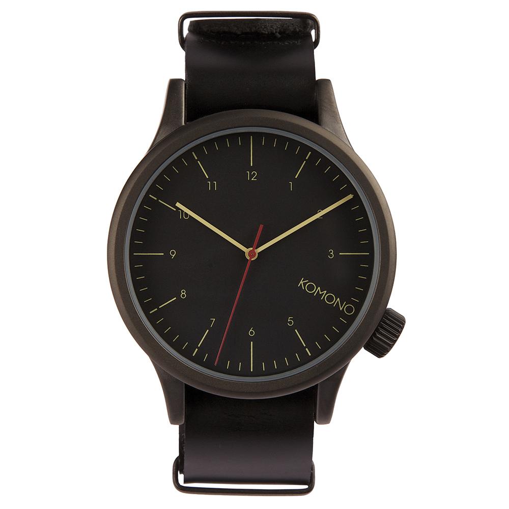 KOMONO Magnus 腕錶-性格黑/46mm