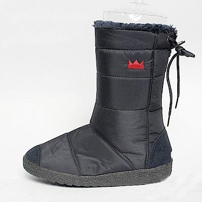 【AIRKOREA韓國空運】正韓電繡皇冠鋪棉保暖內鋪毛中筒雪靴-藍