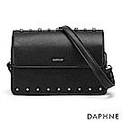 達芙妮DAPHNE-個性鉚釘時尚小方包-黑色