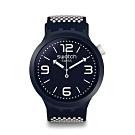 Swatch Big Bold 系列手錶 BBCREAM 冰霜白 - 47mm