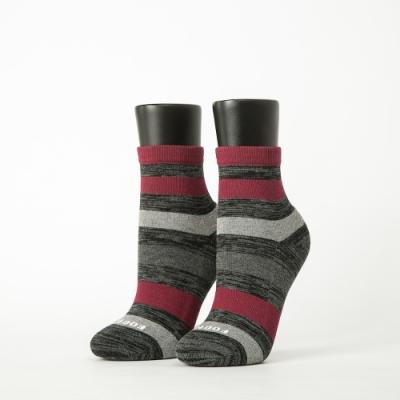 Footer除臭襪-條紋甜心運動氣墊襪-六雙入(黑*2+深藍*2+粉紅*2)