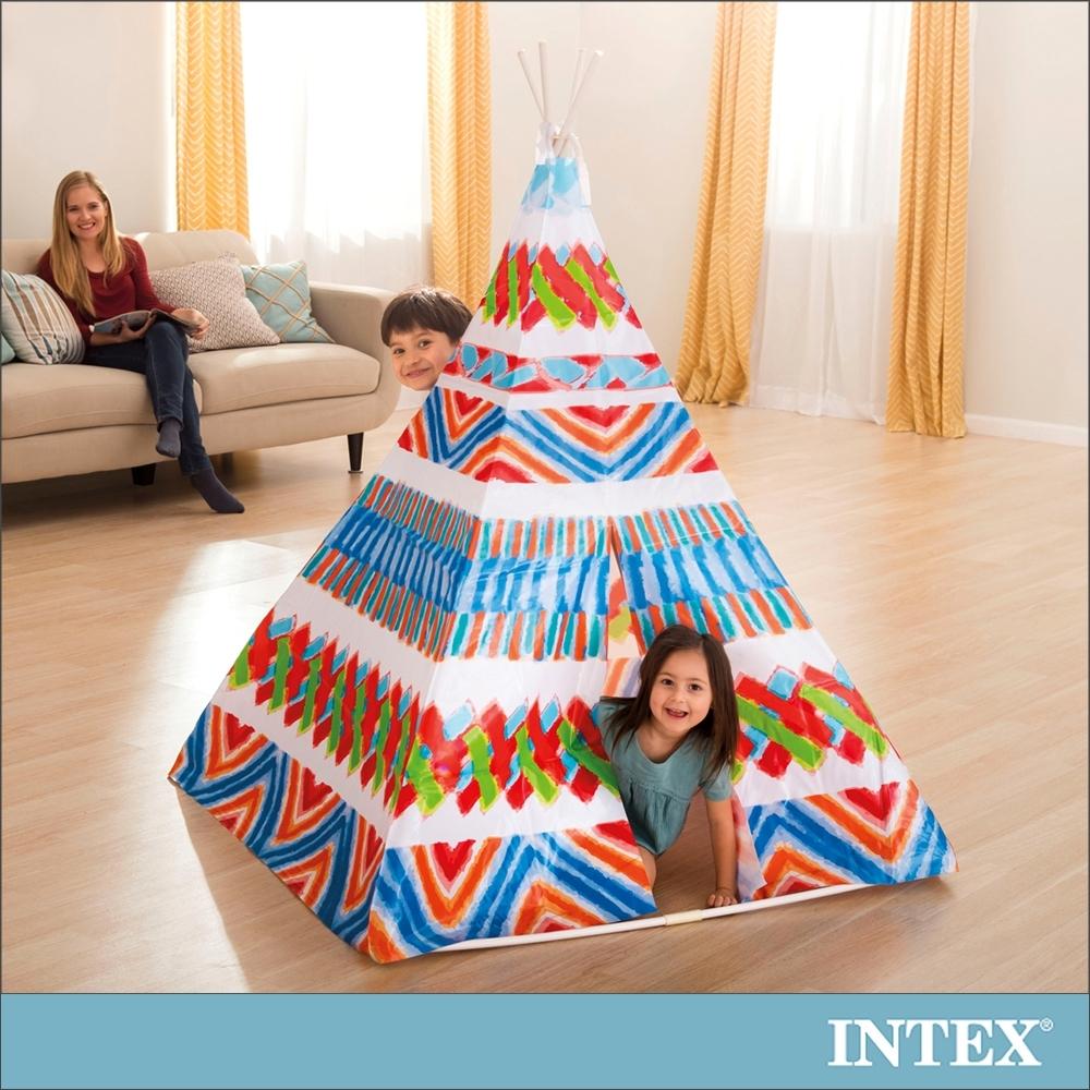 INTEX 兒童印地安錐形遊戲帳篷(48629)