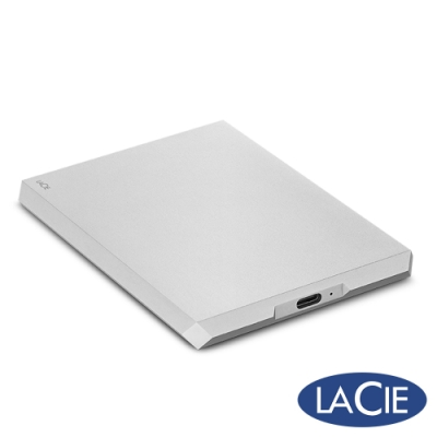 LaCie Mobile Drive USB-C 4TB 外接硬碟-月光銀