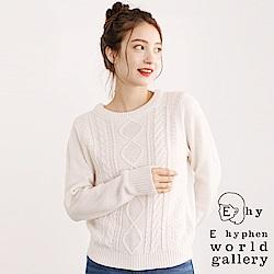 E hyphen 定番款麻花辮針織上衣
