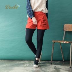 【Dailo】俏皮造型字母刺繡-短褲(二色)