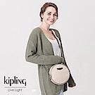 Kipling 斜背包 簡約杏素面-小
