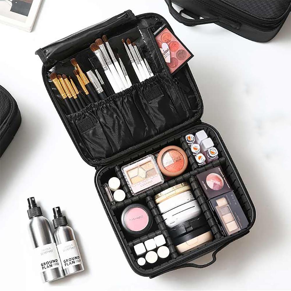 UNIQE豪華多功能隔層分類化妝包 彩妝保養品收納 眼影粉餅刷具唇膏 旅行旅遊 新娘秘書
