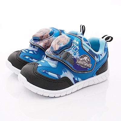 侏羅紀公園童鞋 恐龍電燈運動鞋款 EI3032藍(中小童段)