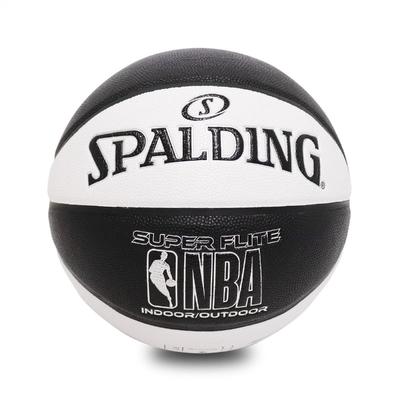 SPALDING 籃球 NBA Super Flite 斯伯丁 7號球 室內外 運動休閒 黑 白 SPA76351