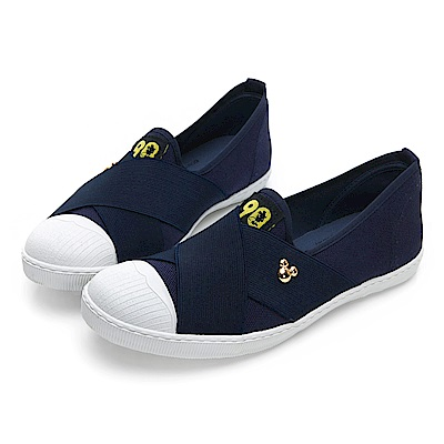 DISNEY 彈性交叉繃帶懶人鞋-藍-DW5137FF