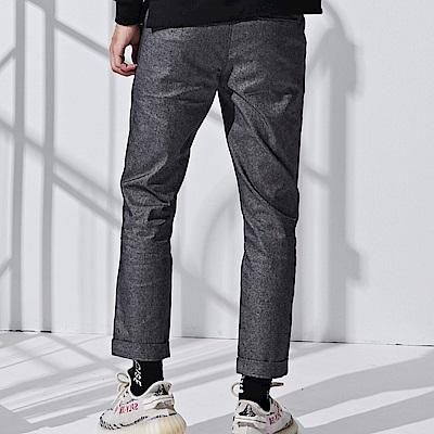 CACO-織條款八分褲-情侶款(兩色)-男【QNC046】