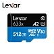 Lexar 633x microSD V30記憶卡 512G 公司貨 product thumbnail 2
