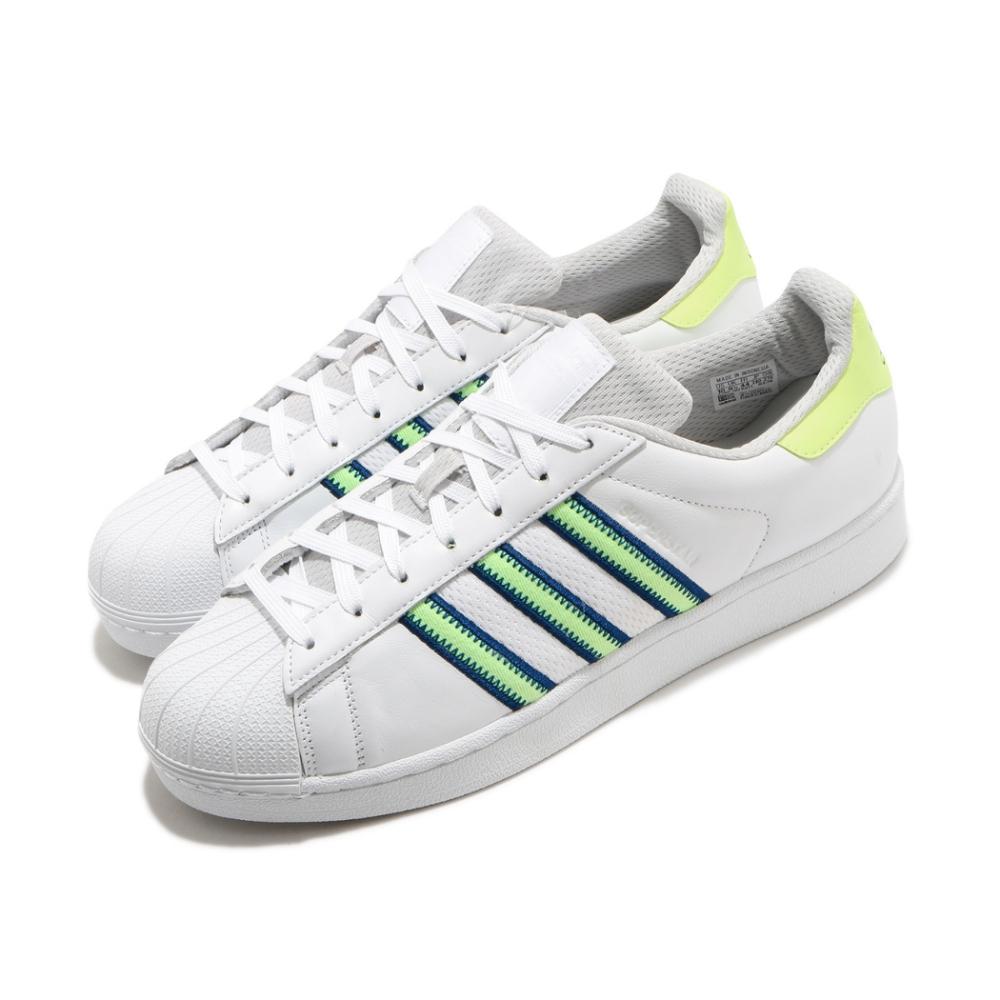 adidas 休閒鞋 Superstar 復古 低筒 男女鞋 海外限定 愛迪達 三葉草 貝殼頭 皮革 白 綠 CG6262