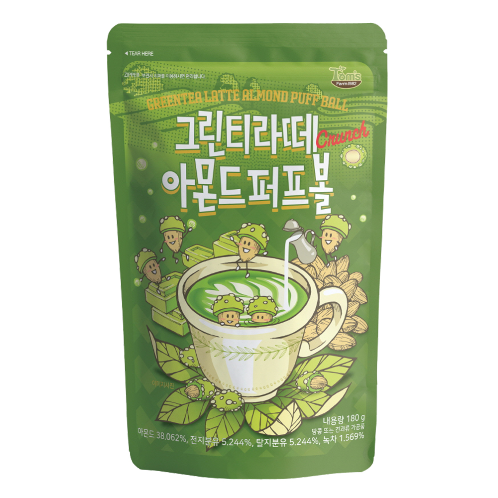 韓國Toms Gilim 杏仁果-抹茶拿鐵味(180g)