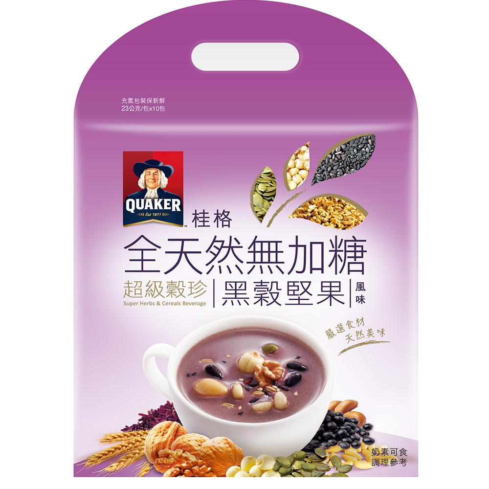 桂格 黑穀堅果超級穀珍-無糖(23gx10入)