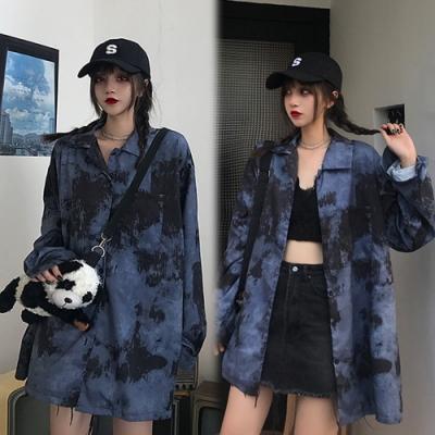 【韓國K.W.】(預購)歐洲款嬌豔花情外套襯衫-1色