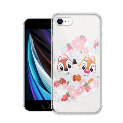 迪士尼授權 櫻花系列 iPhone SE 2020/SE2 空壓防護手機殼(奇奇蒂蒂)