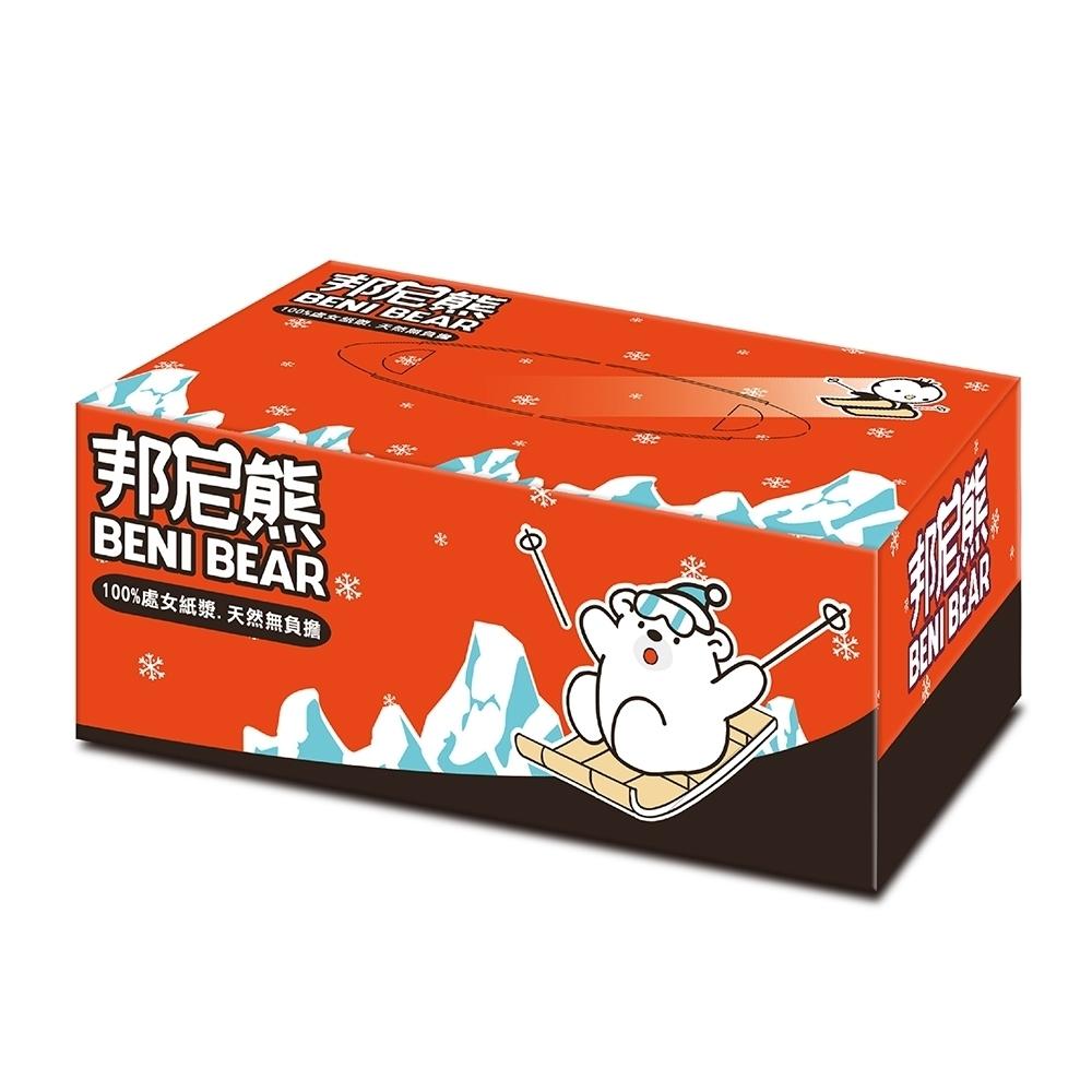 邦尼熊滑雪版盒裝面紙100抽50入/箱