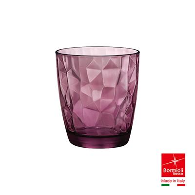 義大利Bormioli Rocco 鑽石水杯6入組-305cc(搖滾紫)