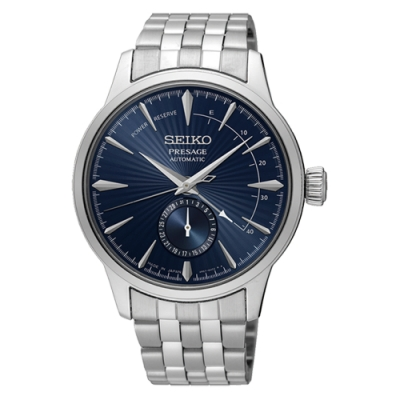 SEIKO 精工Presage調酒師精緻機械錶-藍41mm(SSA347J1)
