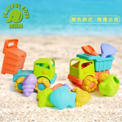 Playful Toys 頑玩具 軟膠沙灘車組 (隨機出貨)