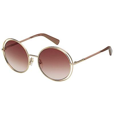 LONGCHAMP 金屬圓框 太陽眼鏡 (金色)LO105