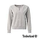 Timberland 女款白灰色石南花色Cropped Logo 運動上衣|B2802