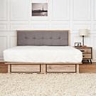 時尚屋  奧爾頓橡木6尺床片型抽屜式加大雙人床(不含床頭櫃-床墊)