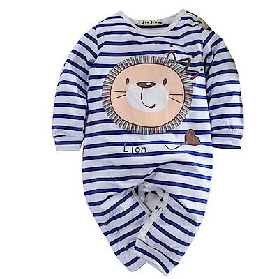 獅子條紋長袖連身衣 k 60751  魔法Baby