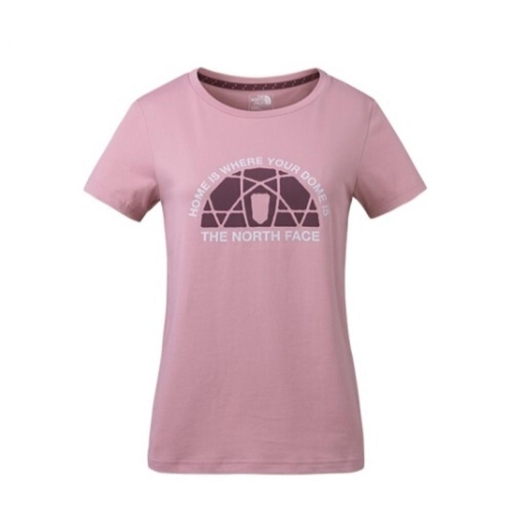 The North Face 女 FlashDry 短袖休閒T恤 粉-NF0A3CIMZCF