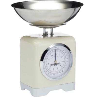 《KitchenCraft》復古方形料理秤(奶油黃5kg)