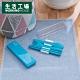 【中秋節前到貨-生活工場】食穗環保餐具3件組-藍 product thumbnail 1