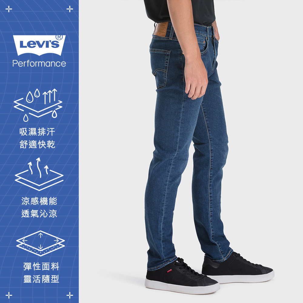 Levis 男款 上寬下窄 512低腰修身窄管牛仔褲 Cool Jeans 深藍刷白