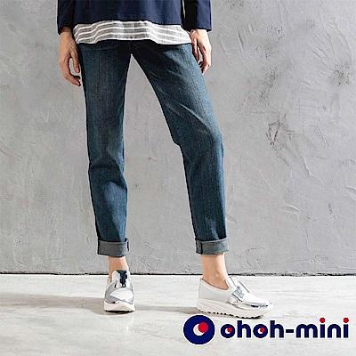 【ohoh-mini 孕婦褲】休閒率性牛仔長褲