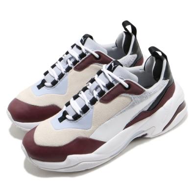 Puma 休閒鞋 Thunder Colour 運動 女鞋 海外限定 厚底 舒適 麂皮 穿搭 米白 咖啡 37096004