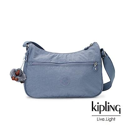 Kipling紫羅蘭灰素面側背包(中)
