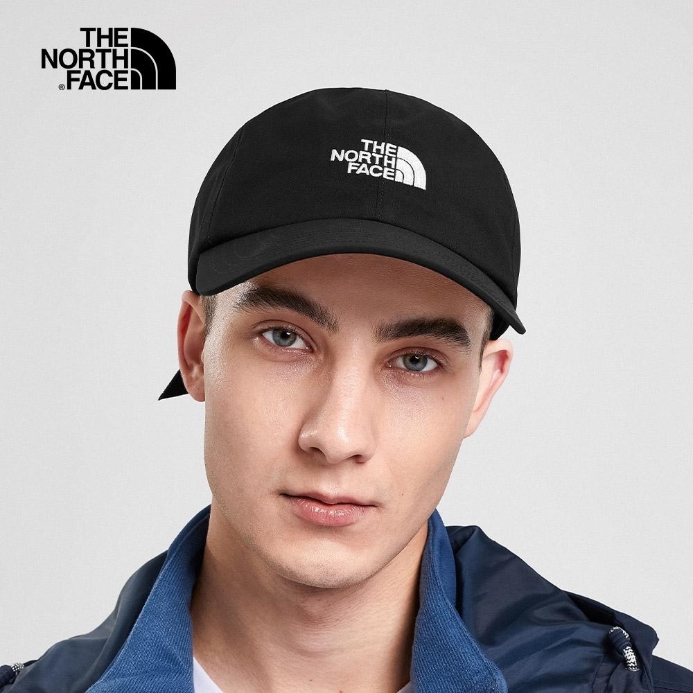 The North Face北面男女款黑色防水透氣棒球帽|3SHGJK3