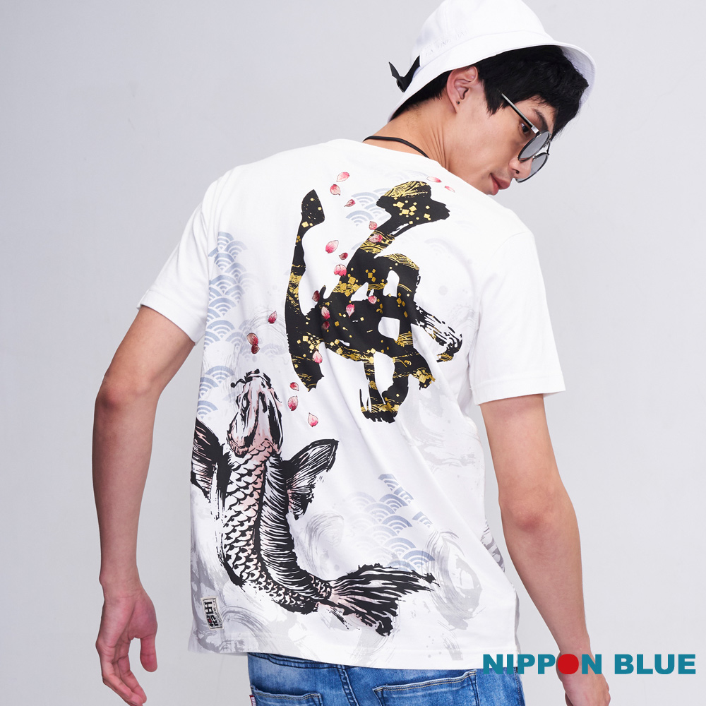 日本藍 BLUE WAY 五輪之海孕龍鯉短TEE