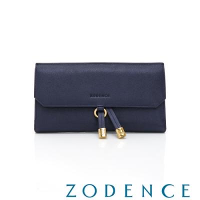 ZODENCE-義大利植鞣革系列時尚長夾 藍