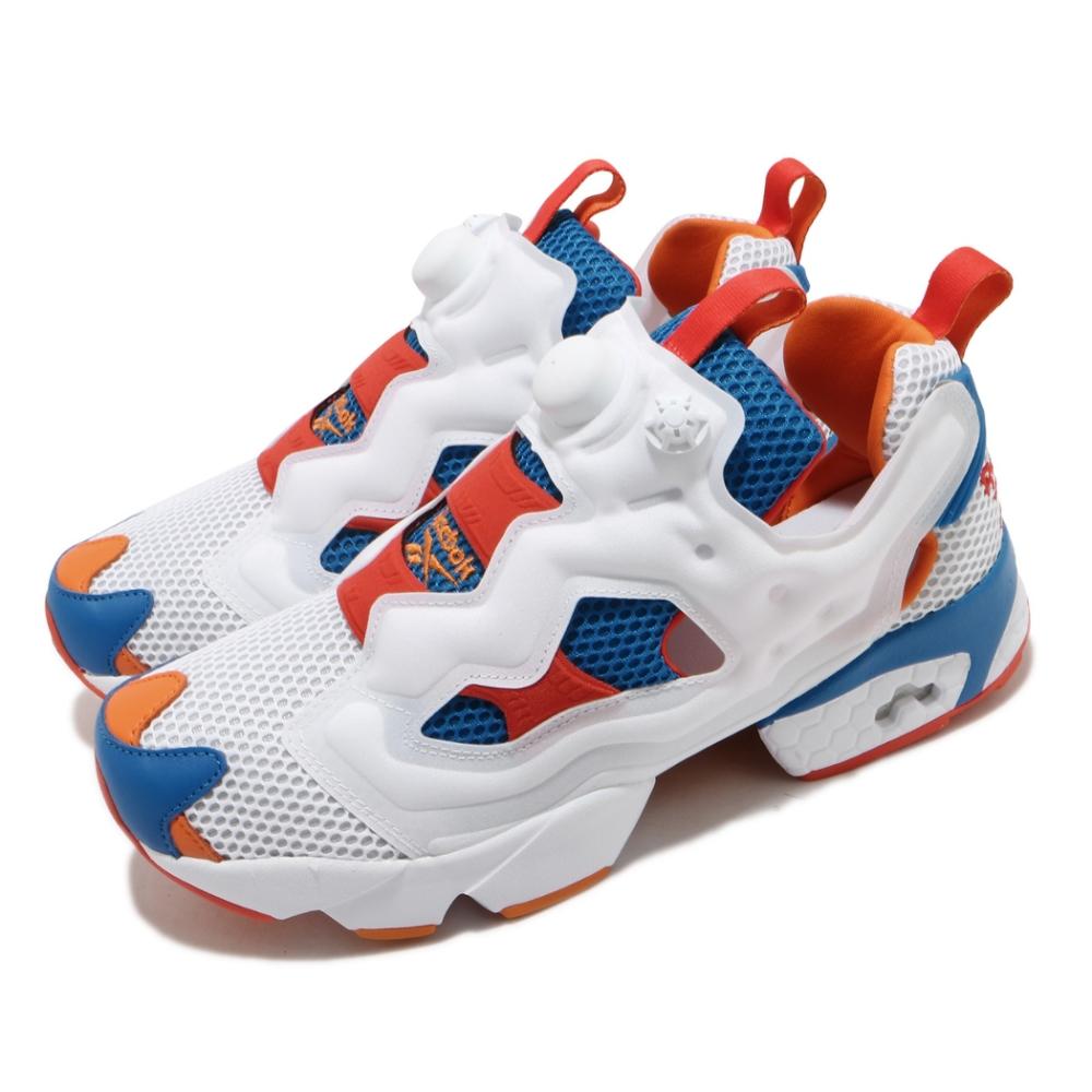 Reebok 休閒鞋 Instapump Fury OG 男女鞋 經典款 襪套 充氣科氣 情侶穿搭 球鞋 白 藍 FV1570