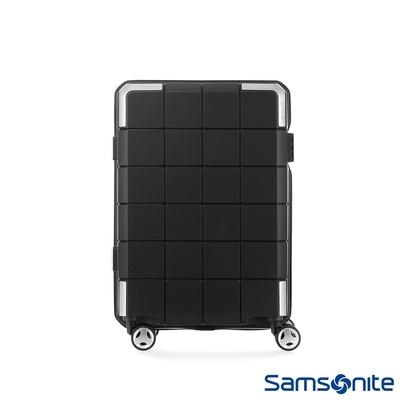 【9/1~10/1 10:00買就送500超贈點】Samsonite新秀麗 20吋CUBE-048抗菌環保雙層防盜登機箱(黑)附洗衣袋與行李箱套