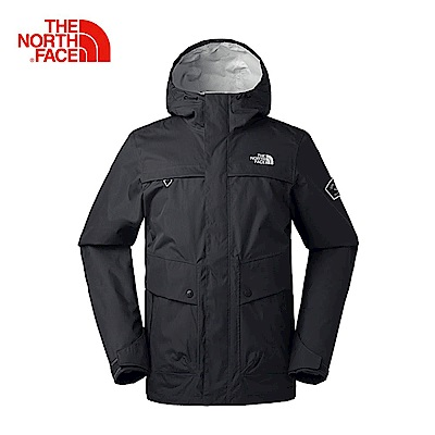 The North Face北面男款灰色防水透氣風衣|3CIQZLY